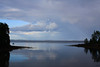 Waiting for the sky to fall, waiting for a sign (Erica Robyn) Tags: ocean blue storm reflection water clouds coast maine newengland islesboro