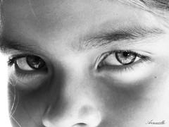 Eyes speak (Aaroncillo) Tags: people bw girl face kid eyes cara ojos