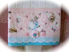 Towel embellished with Peter Rabbit