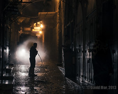 guard of light (David Mor) Tags: light water night nacht jerusalem battle hose noite notte oldcity noc unit gerusalemme jrusalem  darkalley