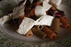 Pasta (Luna Nerea   Daysleeper) Tags: red food cheese canon eos salad italian wine style pasta spanish mozarella porn spinach foodie 400d