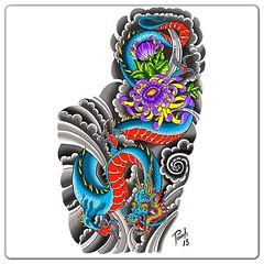 For a full sleeve #dragon #dragontattoo #japanesedragon