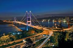 HK Tsing Ma Bridge (Elvischeung) Tags: landscape hongkong nikon cityscape nightscene d800 nikon2470