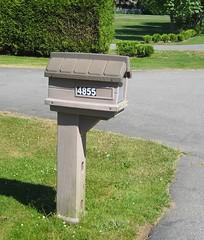Plastic mail (~ Blu ~) Tags: mailbox mail blu langley gvrd 4855