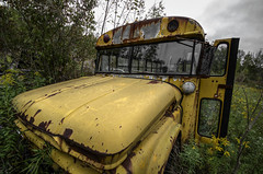 School Busted (DanCog) Tags: school bus abandoned decay rusty rusted junkyard scrapyard busted decayed