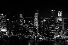 Singapore skyscrapers (n_sapiens) Tags: park roof sky night marina river dark lights bay singapore asia skyscrapers sight sands skypark grattacieli