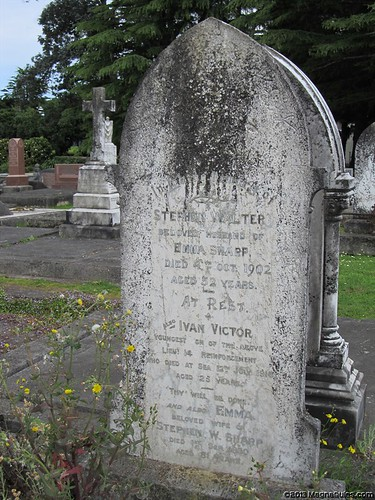 Stephen & Emma SHARP & memorial to their son Lieut. Ivan SHARP 12876