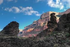 The Monuments of Monument Canyon (Chief Bwana) Tags: grandcanyon az 100views 400views 300views 200views 500views nationalparks grandcanyonnationalpark monumentcanyon monumentcreek tapeatssandstone tapeats psa104 chiefbwana