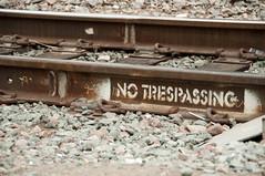 No Trespassing (Gary Ess) Tags: train photoshop san sandiego tracks diego lightroom
