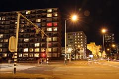 Laan van de Vrijheid (Arend Jan Wonink) Tags: longexposure night nacht streetphotography le groningen confiance laliberté paterswoldseweg gasuniegebouw laanvandevrijheid
