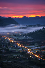 Dawn in Kintamani [Explored] (eggysayoga) Tags: longexposure light sky bali cloud mist fog night sunrise indonesia dawn nikon asia ss hard sigma os mount trail filter le lee nd f28 graduated batur 70200mm kintamani bangli gnd portscape d7000