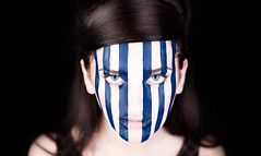 Mila Caged (canonrat) Tags: blue portrait sexy eye female photoshop model paint photoshoot cage 50mm14 canon50mm14 strobist canon5dmkiii 5dmk3