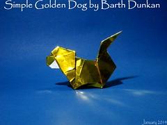 Simple Golden Dog by Barth Dunkan (Magic Fingaz) Tags: dog chien co cane perro hund perrito origamidog