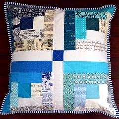 Swap #8 - Entry #14 (XFactorAdmin) Tags: modern log cabin pillow swap quilted cushion xfactor