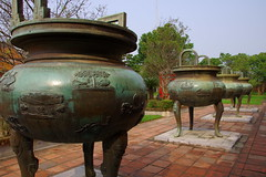 Dynastic Urns (Hue Citadel, Vietnam) (armxesde) Tags: bronze pentax citadel vietnam imperialpalace hue k5 urns imperialcity dynasticurns