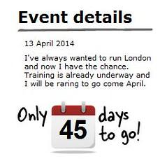 45 Days to the London Marathon (Mark Brocklehurst) Tags: london marathon 45 countdown vlm