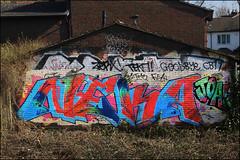 Neka 1T (Alex Ellison) Tags: urban graffiti rip graff trackside joak neka northwestlondon 1t nekah neks