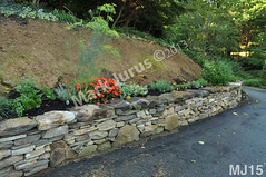 WM Mark Jurus 15, retaining wall, flat cap stones, dry laid stone construction, copyright 2014