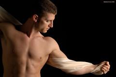 Zach (naturalturn) Tags: sanfrancisco california shirtless portrait usa white man zach artistic fineart drape sheer image:rating=5 image:id=028856