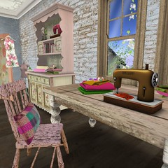 The Collage | Thaino Designs, Bramley Craft Table (Hidden Gems in Second Life (Interior Designer)) Tags: home collage shop vintage design dress interior designs chic build decor shabby exclusives thaino