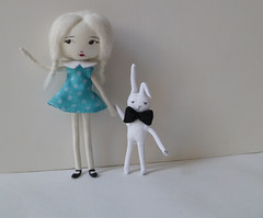 alice and a rabbit (silentface) Tags: rabbit alice wonderland