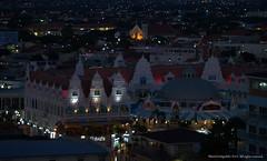 Oranjestad  Night (Ivan Mauricio Agudelo Velasquez) Tags: light church shop night noche kirchen panoramica isla caribe stora antillas