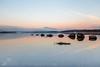 Milarrochy Bay (GenerationX) Tags: pink blue moon mountains water sunrise reflections landscape dawn mirror bay scotland still rocks unitedkingdom scottish neil calm moonlight trossachs lochlomond barr luss inchlonaig millarochy beinnime