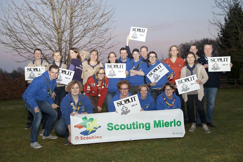 Groepsfoto Scouting Mierlo