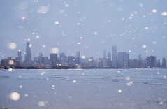 Coldest Chicago (JasonCameron) Tags: city lake snow chicago cold ice skyline wind michigan freeze scape ilinois
