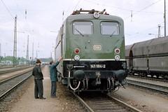 141 184-2 (jo.schz) Tags: test green train drive 1987 engine db repair locomotive landshut elok baureihe testfahrt 1411842