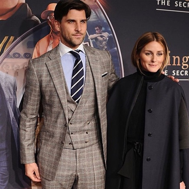 This is how you show up to a movie screening! Stylish as ever.check out Johannes Huebl in this fantastic three piece suit from the KINGSMAN Collection! Besides looking for myself, I have the ideal client in mind!#johanneshuebl #KINGSMANCollection