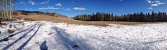 Foran Grade to Pine Ridge Loop Trails Winter Hike - Pano of the first section (benlarhome) Tags: winter foothills snow canada ice trekking trek kananaskis rockies hiking hike alberta rockymountain february pineridge sandymcnabb forangrade