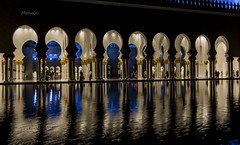 Reflections (Syed Mohsin Khadri) Tags: nightphotography light reflections nikon uae abudhabi unitedarabemirates tokina1116mmf28 nikond7100 grandmosqueuae