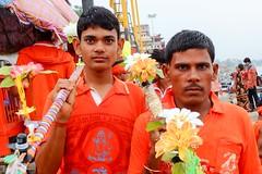 Kanwaria pilgrims portrait, Varanasi, India