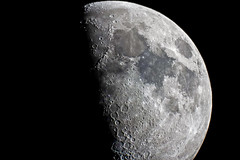 Moon (C.A.Photogenics) Tags: moon color contrast telescope sony earth space crater amazing dark light