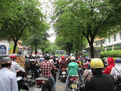 Les motos de Saigon, Vietnam