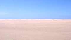 Flat (16:9clue) Tags: seascape beach landscape sand flat widescreen sandy fuerteventura horizon wide playa espana pointandshoot 169 pointshoot widest horizonline beachphotography playasotavento sotaventobeach 169clue