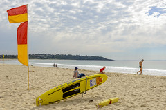 Mollymook Surf Rescue Beachscape (Visit Shoalhaven) Tags: life red rescue yellow club surf flags saving mollymook shoalhaven unspoilt
