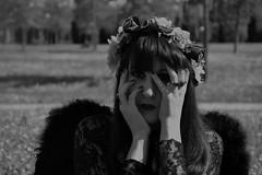 Attraverso gli occhi di un angelo nero (giuliasavarelli) Tags: flowers blackandwhite woman male nature girl female eyes natura occhi fiori biancoenero blackangel angelonero