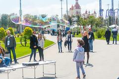 DSC_0334 (sergeysemendyaev) Tags: show children fun happy spring russia adler bubbles iridescent olympicpark sochi 2016   bigbubbles         sochiautodrom soapbubblesshow