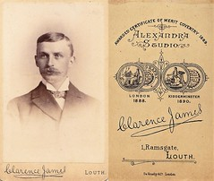 Portrait of a Gentleman by Clarence James of Louth (Bury Gardener) Tags: uk portrait england vintage victorian lincolnshire cdv oldies louth cartedeviste