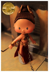Princess Leia Slave Girl Custom 1 (Plum's Place) Tags: starwars princessleia strawberryshortcake ooakdoll slavegirlleia retro80s retrotoys plumsplacecustoms plumsplace