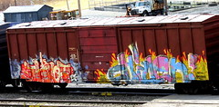 tiket - chillen (timetomakethepasta) Tags: tiket etc chillen rfm freight train graffiti oar boxcar bastards asic belio crops grews reser triple beam dream