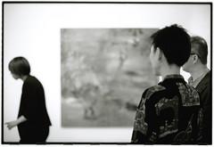 Tokyo Art scene by Kumiko Muroi (Tamakorox) Tags: light shadow bw art film japan canon painting japanese tokyo fuji kodak f1 exhibition artists painter tmax400 analoguecamera gallerymomo