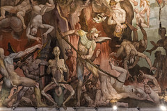 Detail of the Last Judgement on the interior of the Dome (mindweld) Tags: brunelleschi vasari ilduomo thelastjudgement italyflorence