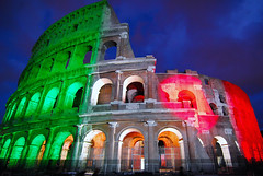 150 years of friendship between Italy and Japan (Rickydavid) Tags: illumination coliseum colosseo illuminazione 150yearsoffriendshipitalyjapan 150anniamiciziaitaliagiappone