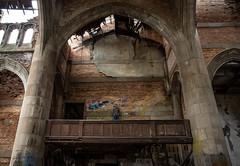 (Rodney Harvey) Tags: urban abandoned church architecture arch decay balcony gothic indiana gary selfie urbex