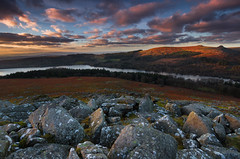 On the rocks - Sheepstor (snowyturner) Tags: clouds landscape evening rocks reservoir granite dartmoor burrator