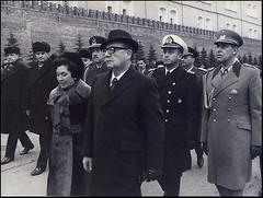 Allende, his wife, and Aides -de-Camp in Moscow. Photo: Author Unknown. (Homage to Leopoldo Vctor Vargas) Tags: 911 september11 worldpressphoto salvadorallende