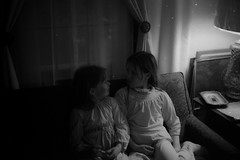 35m00369.jpg (The Digital Shoebox) Tags: funnyfaces monochrome fun negative girls home memories scan people found epsonv700 35mm family blackandwhite children ebay